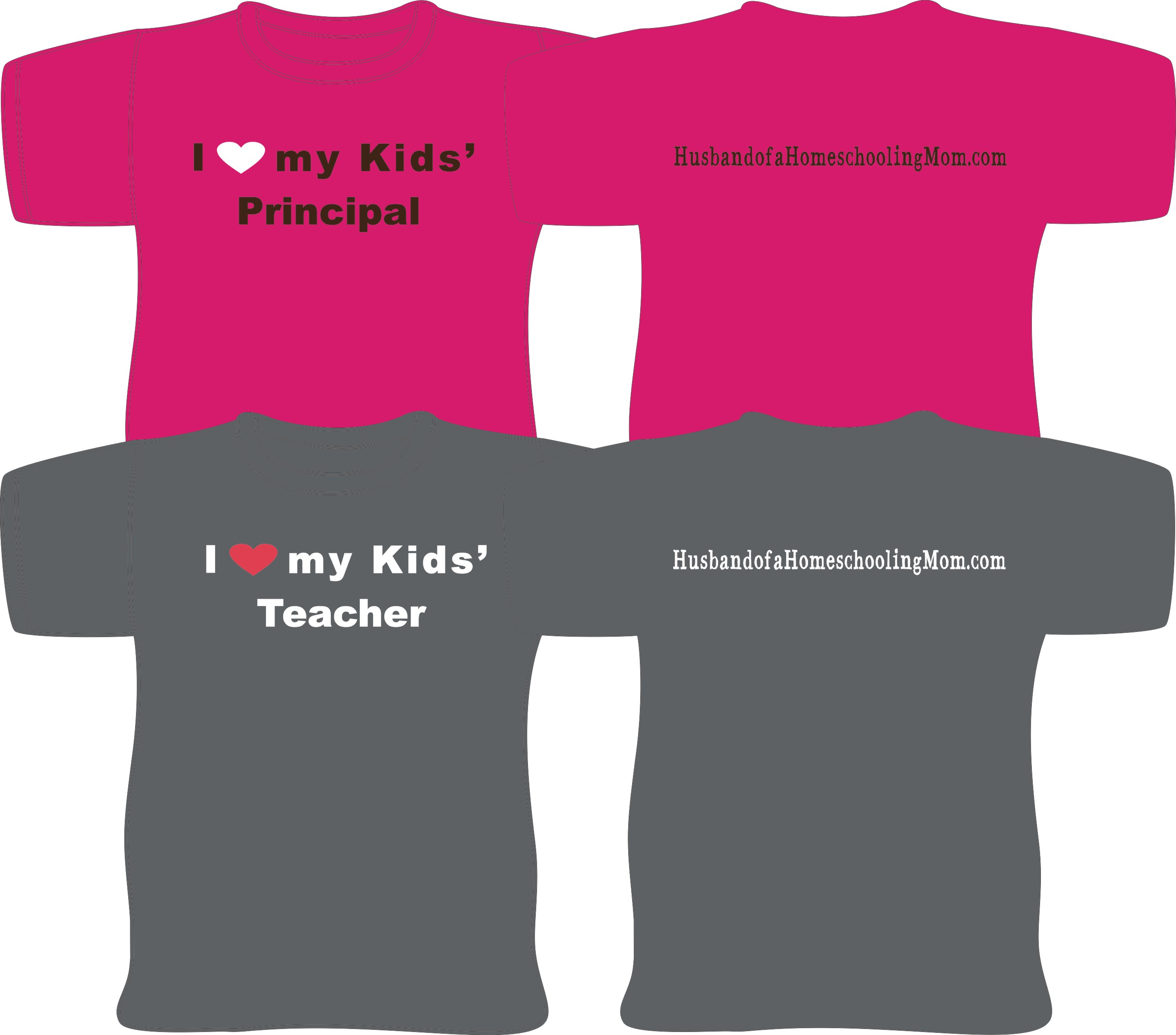 Husband of a Homeschooling Mom T-Shirts